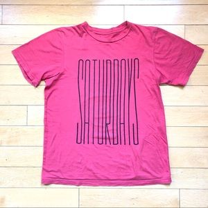 Saturdays Surf NYC Faded Red Cotton T-Shirt